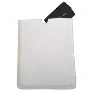 Dolce & Gabbana Ecru Leather iPad Case
