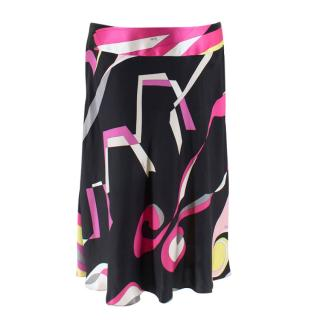 Emilio Pucci Multicoloured Silk Printed Draped Skirt