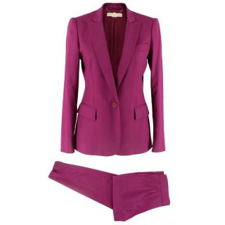 Stella McCartney Purple Wool Suit