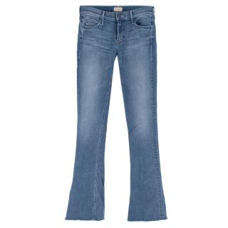 Mother Runaway Fray Blue Denim Jeans