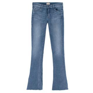 Mother Runaway Fray Blue Denim Jeans