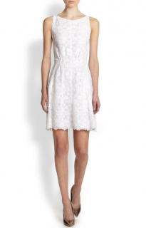 Nina Ricci White Floral Lace Dress