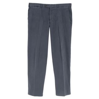 Canali Blue Cotton Chinos