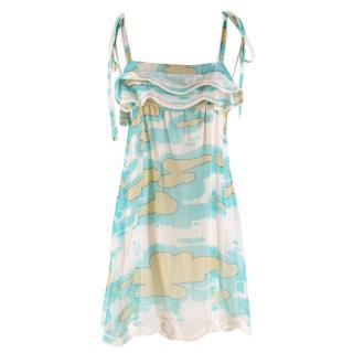 Missoni Turquoise Chiffon Printed Silk Tunic