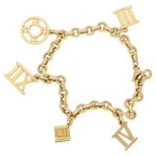Tiffany & Co. 18 Karat Gold Atlas Charm Bracelet