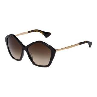 Miu Miu Brown Oversize Pentagon Sunglasses