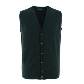 John Smedley Green Finagon Wool Waistcoat