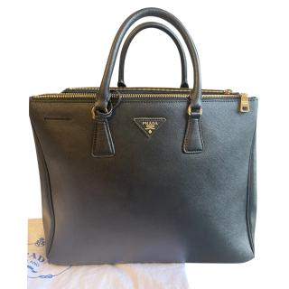 Prada Black Saffiano Leather Tote Bag