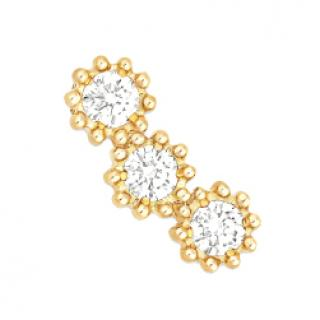 Dior Yellow Gold Petite Mimirose Diamond Earrings