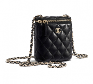 Chanel Grained Calfskin Mini Vanity with Classic Chain