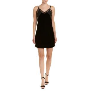 Make black velvet slip dress