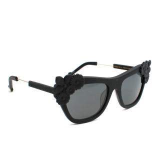 Preen by Thornton Bregazzi Black Bouquet Sunglasses