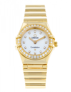 Omega Constellation Diamond Yellow Gold Watch