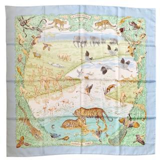 Hermes La Treve De L'Eau Silk Scarf 90