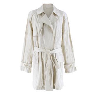 Bamford Beige Lightweight Cotton Trench Coat
