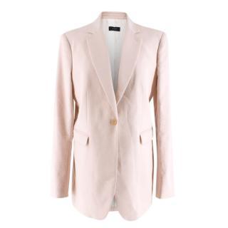 Joseph Pink Linen Blend Longline Blazer