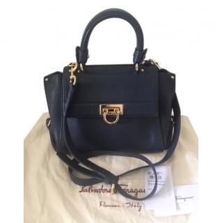 Ferragamo Navy Blue Small Sofia Bag
