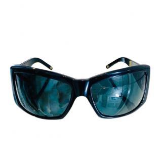 Versace Crystal Embellished Oversize Sunglasses