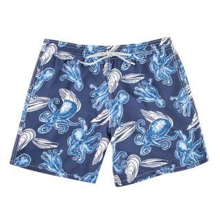 Vilebrequin Blue Octopus Print Swim Shorts