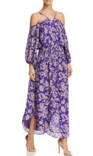 Ramy Brook Purple Manuela Boho Silk Maxi Dress