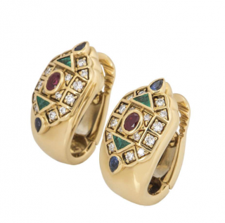 Cartier Multi Gem Clip-on Earrings