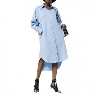Givenchy Blue Oversized Shirt Dress