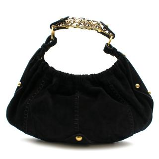 Yves Saint Laurent by Tom Ford Black Suede Mombassa Bag