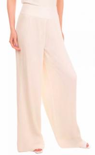 Thakoon White Pleated Wide Leg Pants