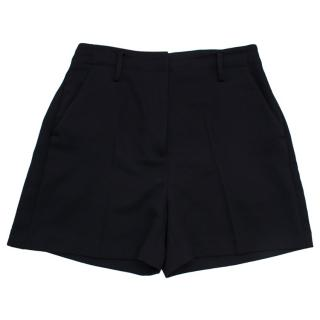 Michael Michael Kors Black Woven Shorts