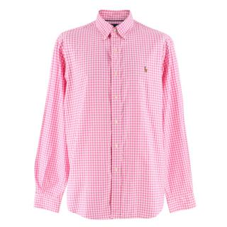 Ralph Lauren Pink Gingham Classic Fit Cotton Shirt