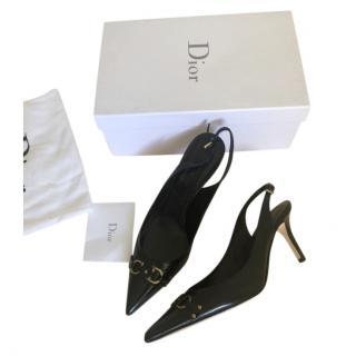 Dior Leather Spirit Slingback Sandals