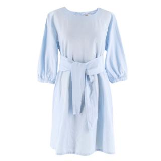Max & Co Blue Cotton Mini Dress