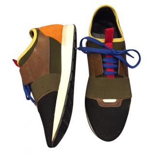 Balenciaga Multi-Colour Tonal Speed Sneakers