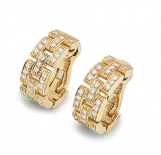 Cartier Yellow Gold Diamond Panthere Earrings