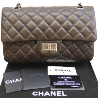 Chanel Brown Leather Hybrid Double Flap