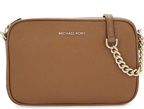 Michael Kors Saffiano Leather Tan Shoulder Bag