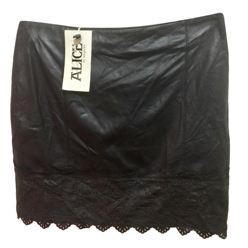 Alice by Temperley Black Laser-Cut Skirt