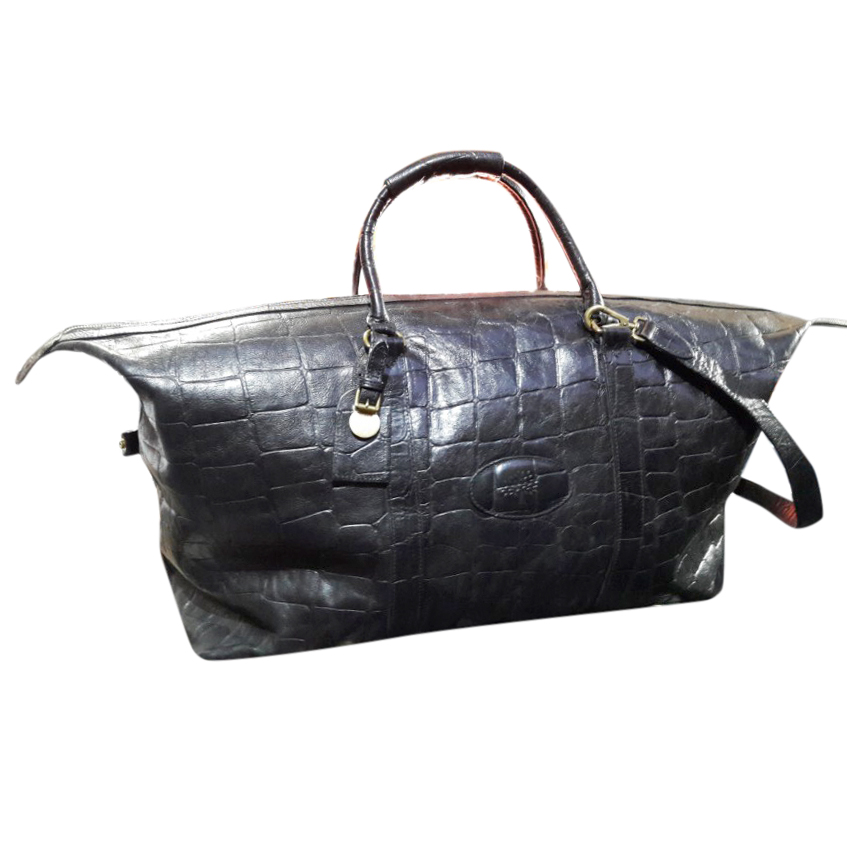 Mulberry Limited Edition Croc Print Large Leather Holdall