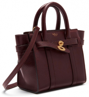 Mulberry Oxblood Mini Bayswater Tote