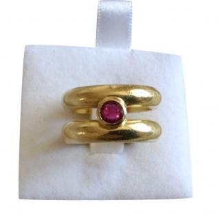Theo Fennell Ruby Set Yellow Gold Ring