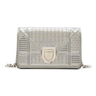 Dior Silver Diorama Micro Cannage Baby Pouch