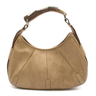 Yves Saint Laurent Mombasa Beige Leather Handbag
