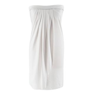 Elizabeth Hurley White Draped Beach Dress