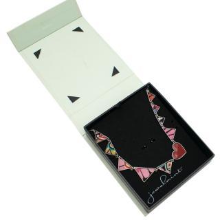 JewelMint Triangle Multi-Coloured Necklace