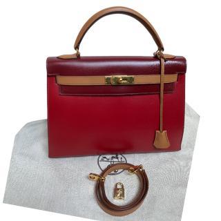 Hermes Vintage Tri-Colour Kelly 32 GHW