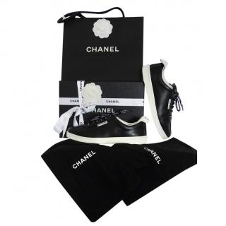 Chanel CC Weekend Black & White Sneakers