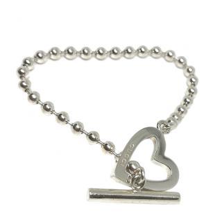 Gucci Heart Link Silver Bracelet