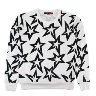 Perfect Moment White Starlight Printed Jersey Jumper
