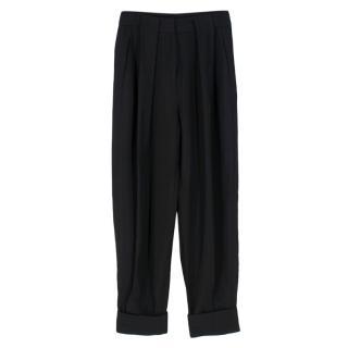 Alexander Wang Black Cuffed Trousers