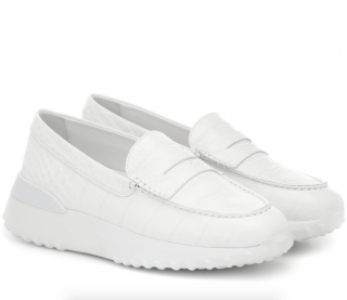 Tod's Platform White Gommino Loafers